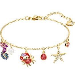 Swarovski Ocean Bracelet, Multi-Colored, Gold Plating