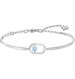 Swarovski North Bracelet, Blue, Rhodium Plating