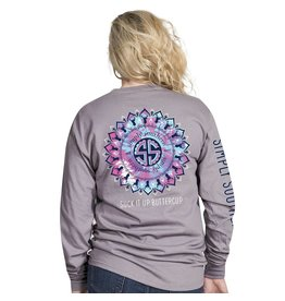 Simply Southern Long Sleeve, Preppy Buttercup , Steel