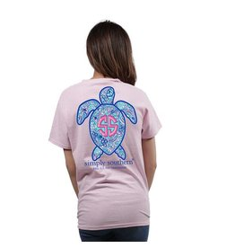 Simply Southern Save The Turtles Short Sleeve Logo Shell - Lulu