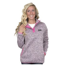 Simply Southern Pink Heather Knit Pull Over