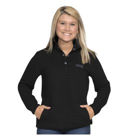 Simply Southern Ribbed Black Pullover