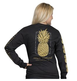 Simply Southern Long Sleeve, Pineapple, Black