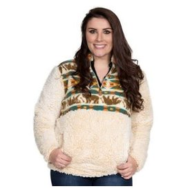 Simply Southern Sherpa Pull Over, Bear