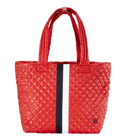 Oliver Thomas Wingwoman Tote Large, Tomato Red Stripe