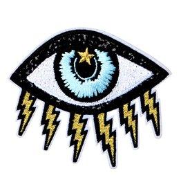 Oliver Thomas Evil Eye Badge, Black/Multi