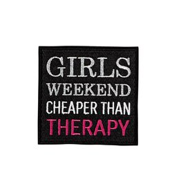 Oliver Thomas Girls Weekend Cheaper Than Therapy Badge, Black/Multi