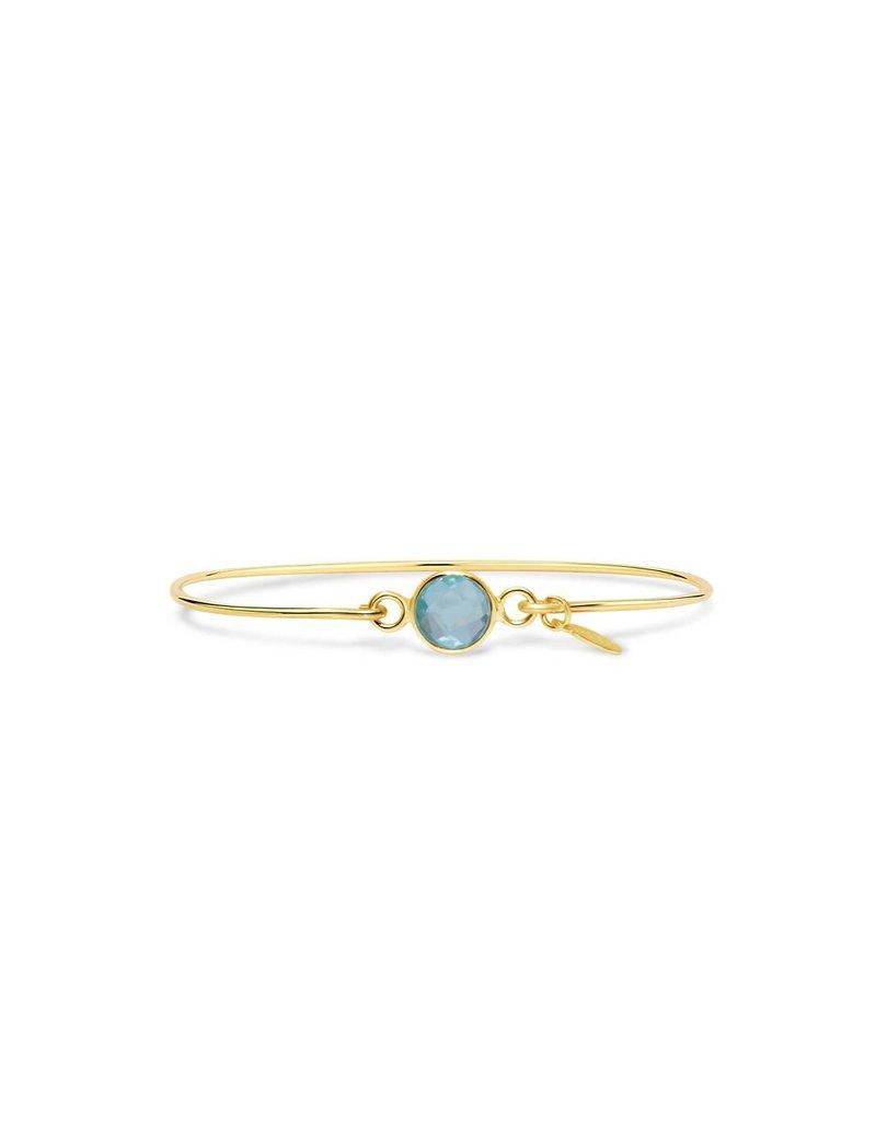 Stia Jewelry Birthstone Bracelet, December, Gold