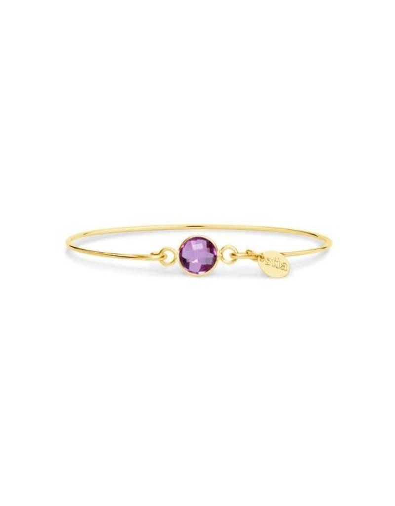 Stia Jewelry 8mm Birthstone Bracelet - Pink Tourmaline (October)
