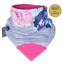 Cheeky Chompers Neckerchew, Joules Flowers & Stripes