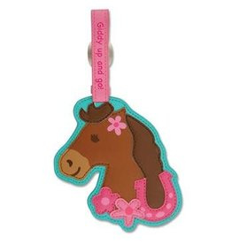 Stephen Joseph Luggage Tag Girl Horse