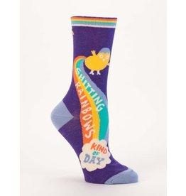 Blue Q Shitting Rainbows Crew Socks