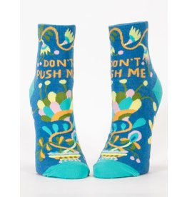 Blue Q Don't Push Me Ankle Sock