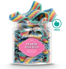 Candy Club Rainbow Sour Belts, Small