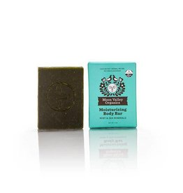 Moon Valley Organics Mint and Sea Minteral Cleansing Body Bar