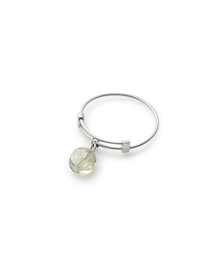 Alex and Ani **Crystal Infusion, Expandable Wire Ring, Sunlight, SS