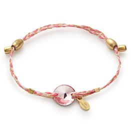 Alex and Ani Precious Threads, Crystal Infusion, Light Rose, Pink, 14kt Gp