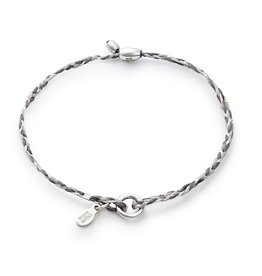 Alex and Ani Precious Threads, Grey Braid, Silver