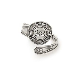 Alex and Ani Spoon Ring, Number Twenty-Two, Sterling Silver