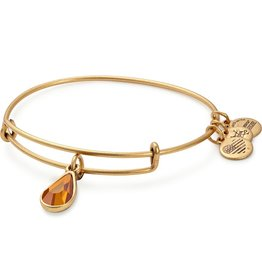 Alex and Ani Swarovski Teardrop Color Code EWB, Nov, Topaz Color, RG