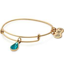 Alex and Ani Swarovski Teardrop Color Code EWB, Dec, Blue Zircon Color, RG