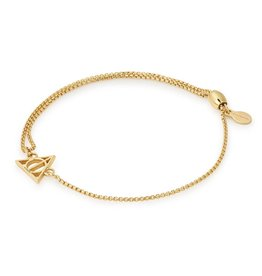 Alex and Ani Harry Potter Deathly Hallows Pull Chain Bracelet, 14kt Gp