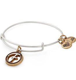 Alex and Ani Initial F II EWB, Two Tone, RS