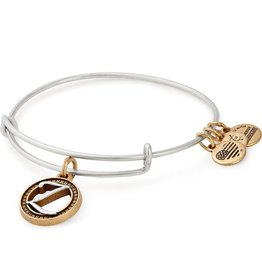 Alex and Ani Initial Z II EWB, Two Tone, RS