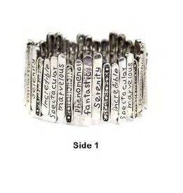 Tess Morgan Jewelry Silver Inspirational Stretch Bracelet