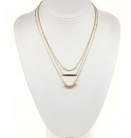 Tess Morgan Jewelry Gold Triple Layered Forever Necklace