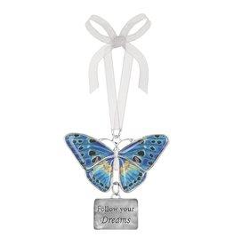 Ganz Follow Dream Butterfly Ornament