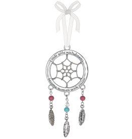 Ganz Little Girls with Dreams Ornament, Dreamcatcher