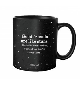 Quotable Cards Good Friends Like Stars Mug