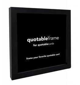 Quotable Cards Quotable Black Frame