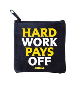 Quotable Cards Mini Pouch - Hard Work