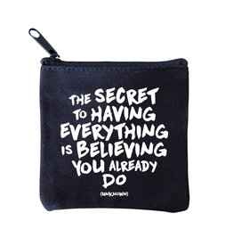 Quotable Cards Mini Pouch - Secret to Having