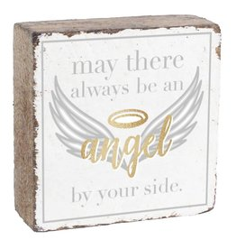 Rustic Marlin Rustic Block 6 x 6 - By Your Side, White, Gold, Silver