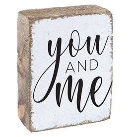 Rustic Marlin Rustic Block - You and Me, White, Black