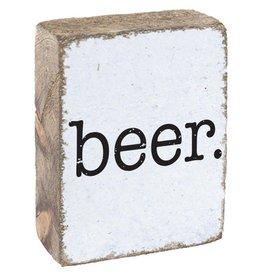 Rustic Marlin Rustic Block Beer - White, Black