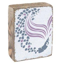 Rustic Marlin Rustic Block - Mermaid Tale, White
