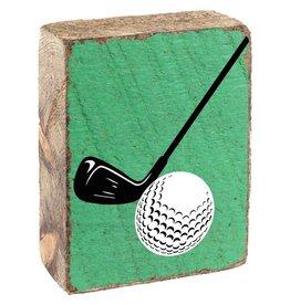 Rustic Marlin Rustic Block - Golf, Green, White, Black