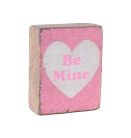 Rustic Marlin Rustick Block - Sweetheart 'Be Mine' - Pink, White