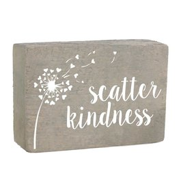 Rustic Marlin XL Rustic Block, Scatter Kindness - Grey Wash, White