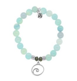 Tiffany Jazelle Core Collection, Aqua Agate, Wave