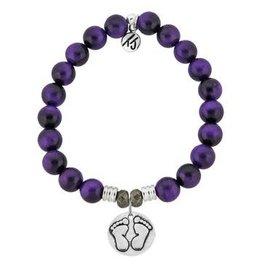 Tiffany Jazelle Core Collection Bracelet, Purple Tiger's Eye, Baby Feet