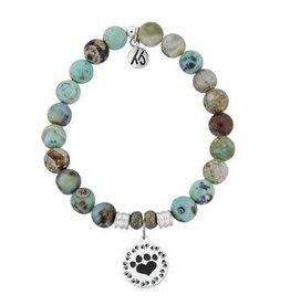Tiffany Jazelle Core Collection Bracelet, Turquoise Jasper, Paw Print