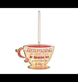 P. Graham Dunn Good Morning Coffee Cup Car Charm