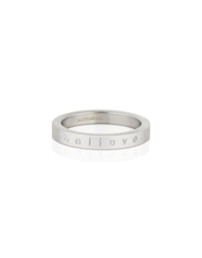 Mantraband Believe Ring