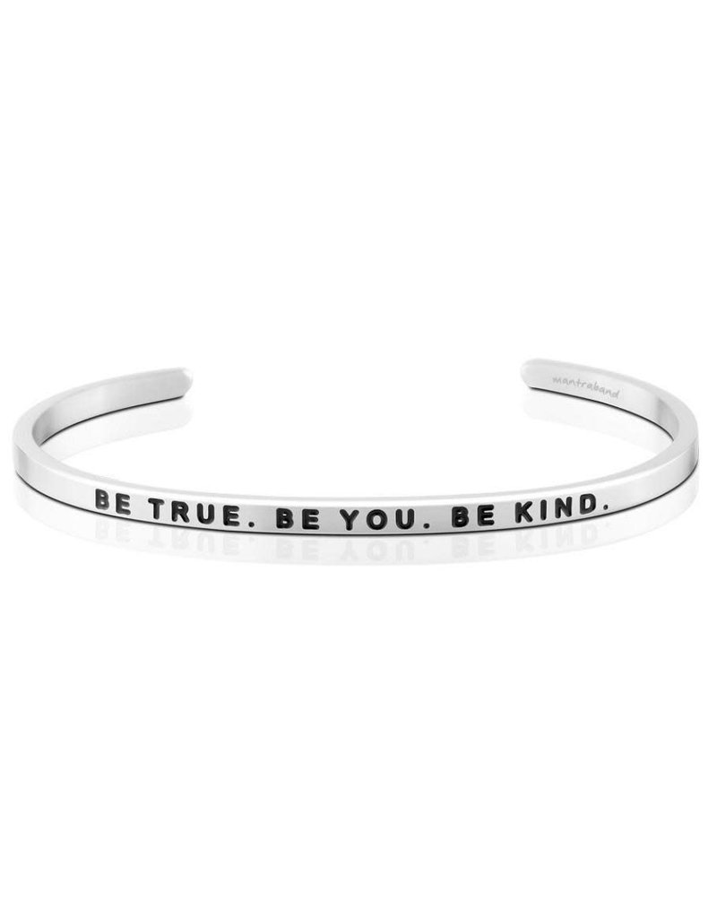 Mantraband Be True. Be You. Be Kind, Silver