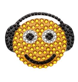 Sticker Beans Smiley with Headphones